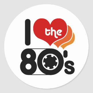 I Love the 80's Classic Round Sticker