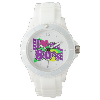 I Love the 80's Geometric Neon Eighties Party Watch