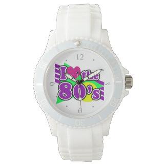 I Love the 80's Geometric Neon Eighties Party Wristwatch