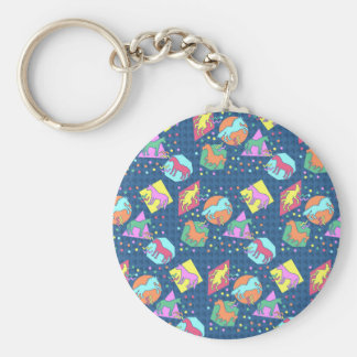 I Love the 90's Unicorn Basic Round Button Key Ring