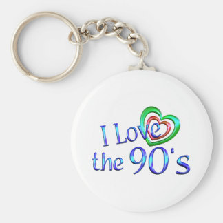 I Love the 90s Keychains