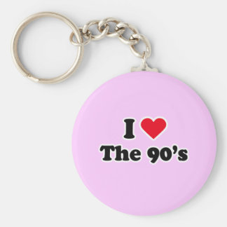 I love the 90's basic round button key ring