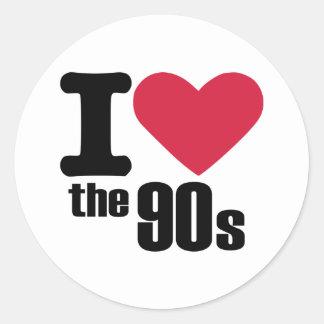 I love the 90's round sticker