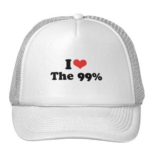 I LOVE THE 99 PERCENT - .png Hat