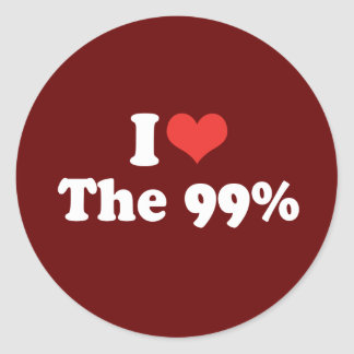 I LOVE THE 99 PERCENT - .png Stickers