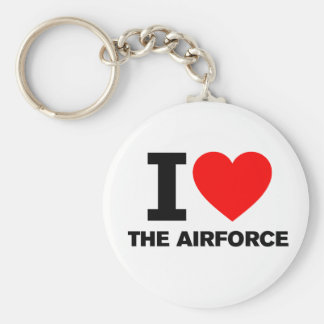 I Love the Airforce Key Chains
