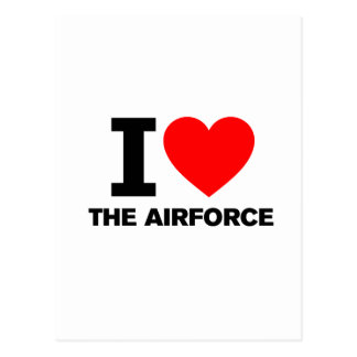 I Love the Airforce Postcard