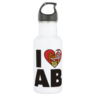 I Love The Angry Bunny 532 Ml Water Bottle