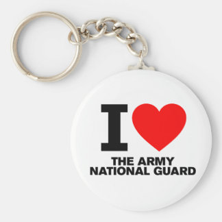 I Love the Army National Guard Key Chains