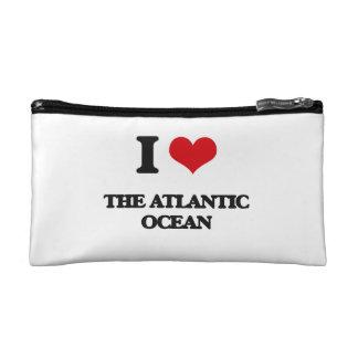 I Love The Atlantic Ocean Makeup Bags