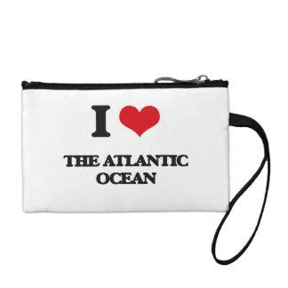 I Love The Atlantic Ocean Change Purse
