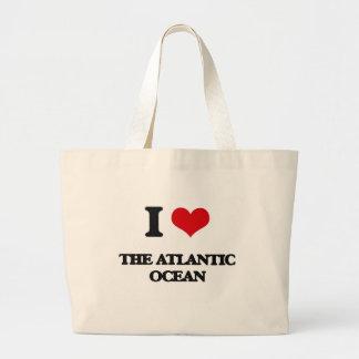 I Love The Atlantic Ocean Jumbo Tote Bag