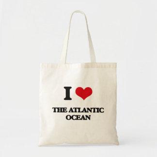 I Love The Atlantic Ocean Budget Tote Bag