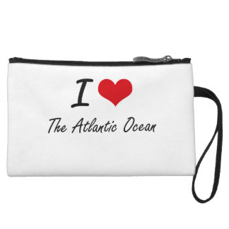 I Love The Atlantic Ocean Wristlet Clutch
