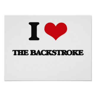 I Love The Backstroke Poster