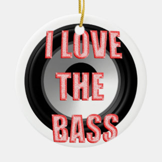 I Love The Bass Christmas Ornament
