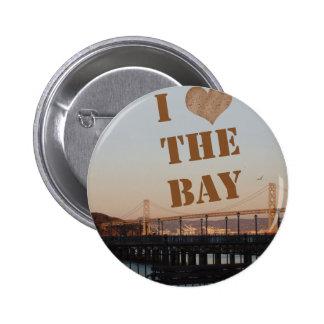 I Love The Bay! 6 Cm Round Badge
