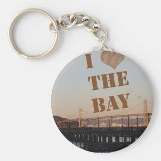 I Love The Bay! Basic Round Button Key Ring