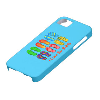 I Love the Beach - Colorful Flip Flops iPhone 5 Case
