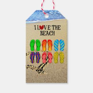 I Love the Beach Gift Tags