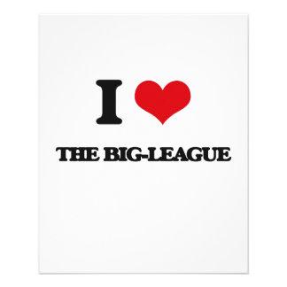I Love The Big-League 11.5 Cm X 14 Cm Flyer