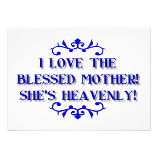 I love the Blessed Mother! She's Heavenly! Custom Invitation
