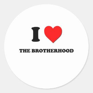 I Love The Brotherhood Round Stickers