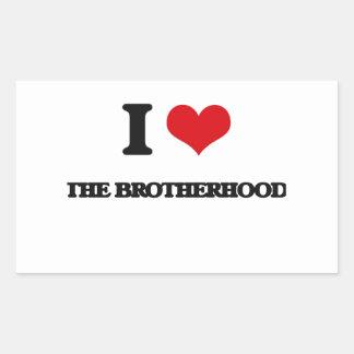 I Love The Brotherhood Rectangular Sticker