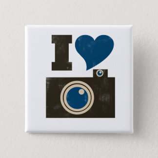 I Love the Camera 15 Cm Square Badge