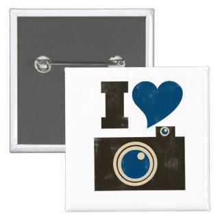 I Love the Camera 15 Cm Square Badge