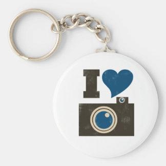 I Love the Camera Basic Round Button Key Ring