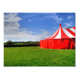 I love the circus. photographic print
