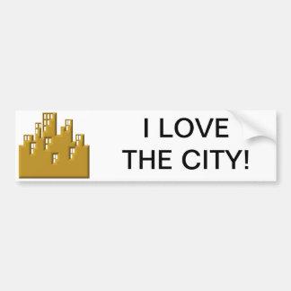 I love the city bumper sticker