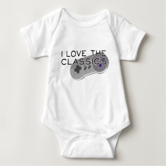 I Love The Classics Game Controller Baby's Shirt