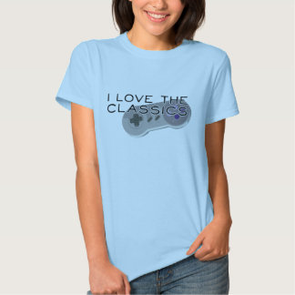I Love The Classics Game Controller Woman's Top Tee Shirts