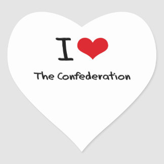 I love The Confederation Heart Stickers
