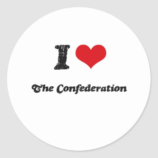 I love The Confederation Round Stickers
