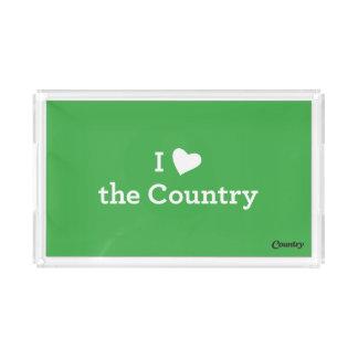 I Love the Country Acrylic Tray