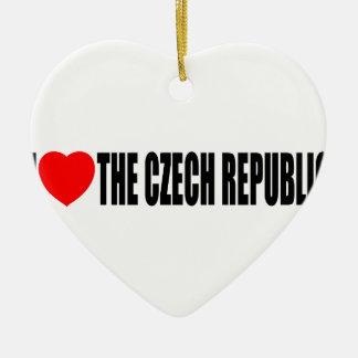 I Love The Czech Republic Christmas Tree Ornaments
