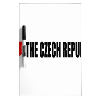 I Love The Czech Republic Dry Erase Whiteboards