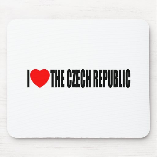 I Love The Czech Republic Mouse Pads