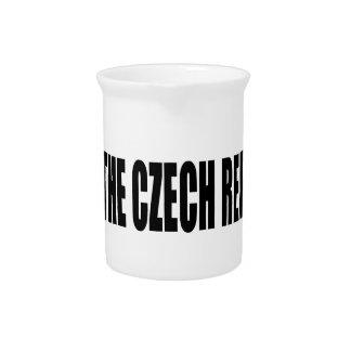 I Love The Czech Republic Drink Pitcher