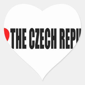 I Love The Czech Republic Heart Sticker