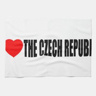 I Love The Czech Republic Hand Towels