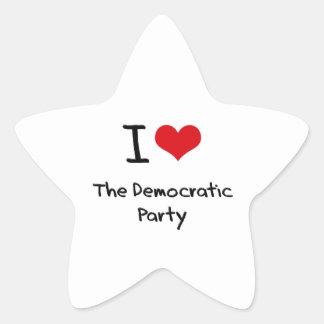 I Love The Democratic Party Star Sticker