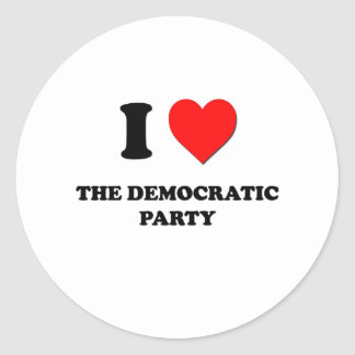 I Love The Democratic Party Round Stickers