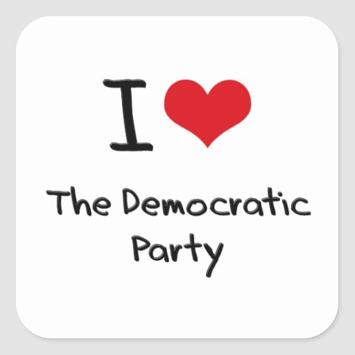 I Love The Democratic Party Stickers