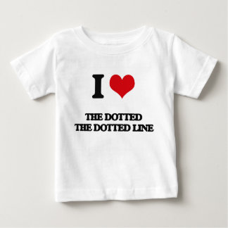 I Love The Dotted Line Tshirts