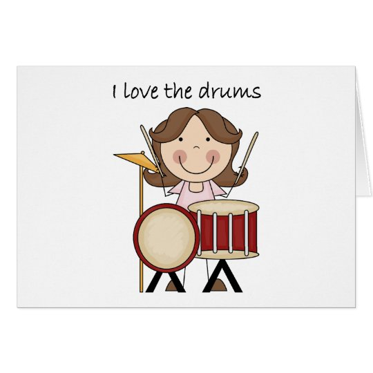 I Love The Drums Kids Music Gift Card