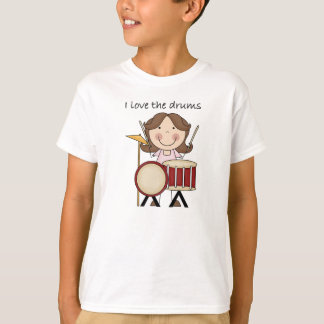I Love The Drums Kids Music Gift T-Shirt